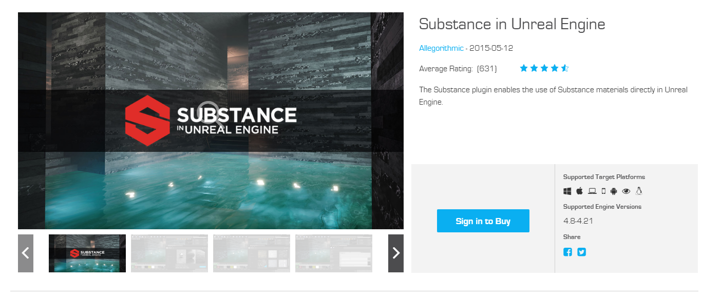 Substance in Unreal Engine, GameTextures Market Peeks