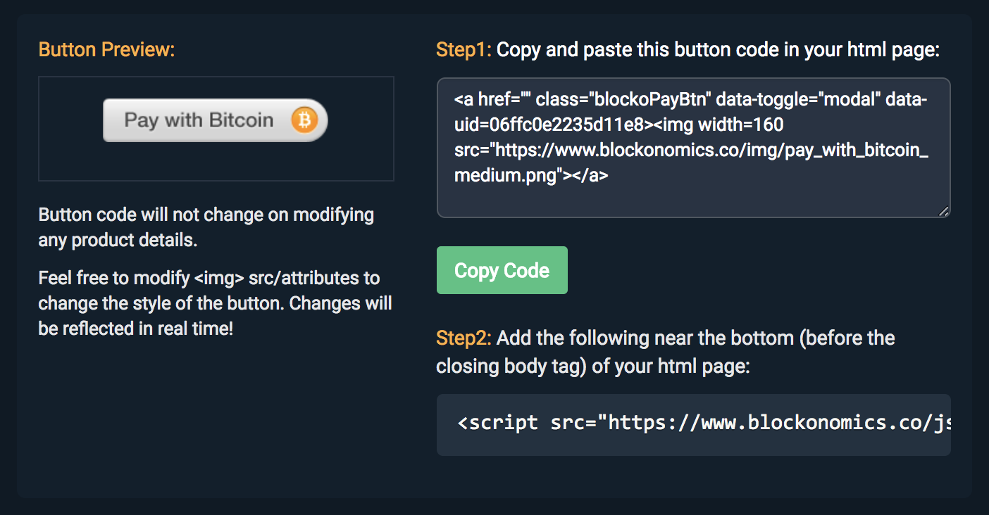 How to Create a Bitcoin Donate Button - Blockonomics Blog