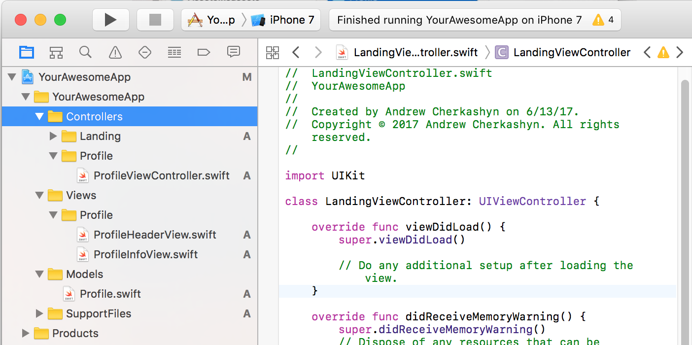 The Best Way to Organize your iOS Project Files in Xcode