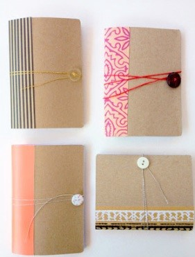 mini notebook using cereal boxes
