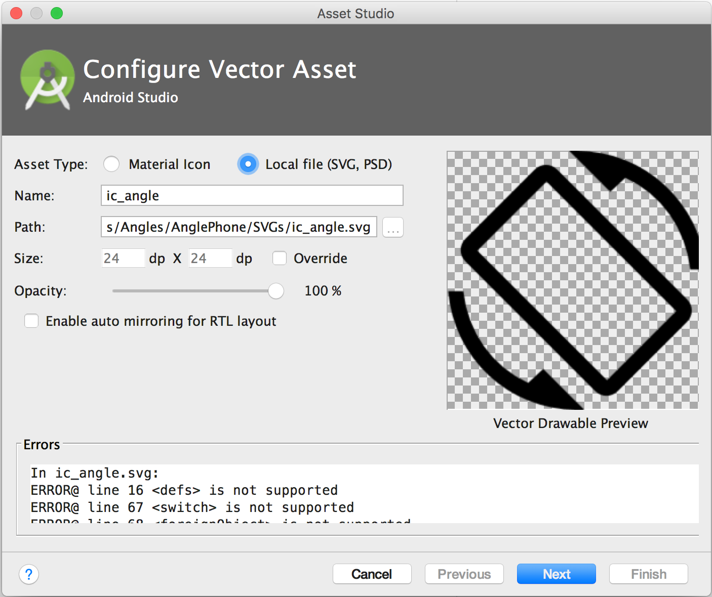 Vector drawable is the best practices for Android development