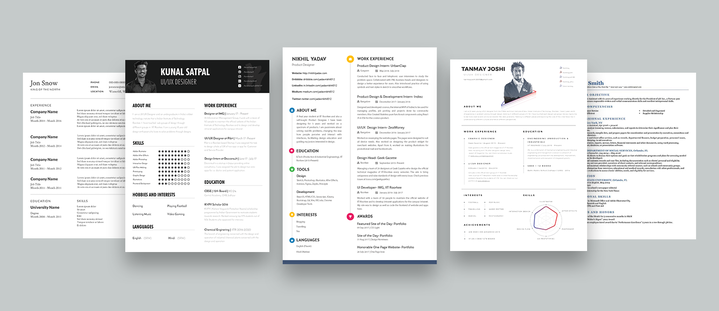 How To Design Your Own Resume Things To Consider While Designing