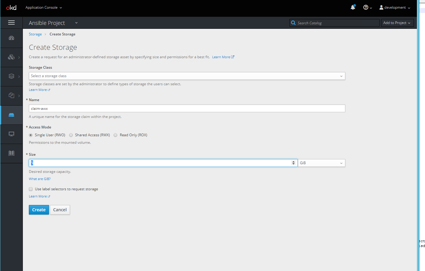 Deployment of Ansible AWX on OpenShift Origin - Abdurrahim
