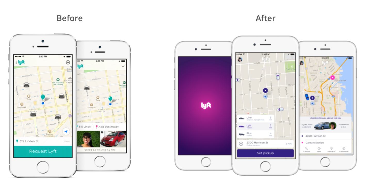 Lyft redesign — a UX case study - UX Collective