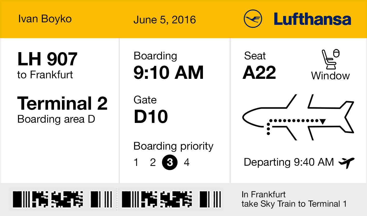 While I Was Redesigning A Boarding Pass Paper Got Old By Icons8 Ux Planet