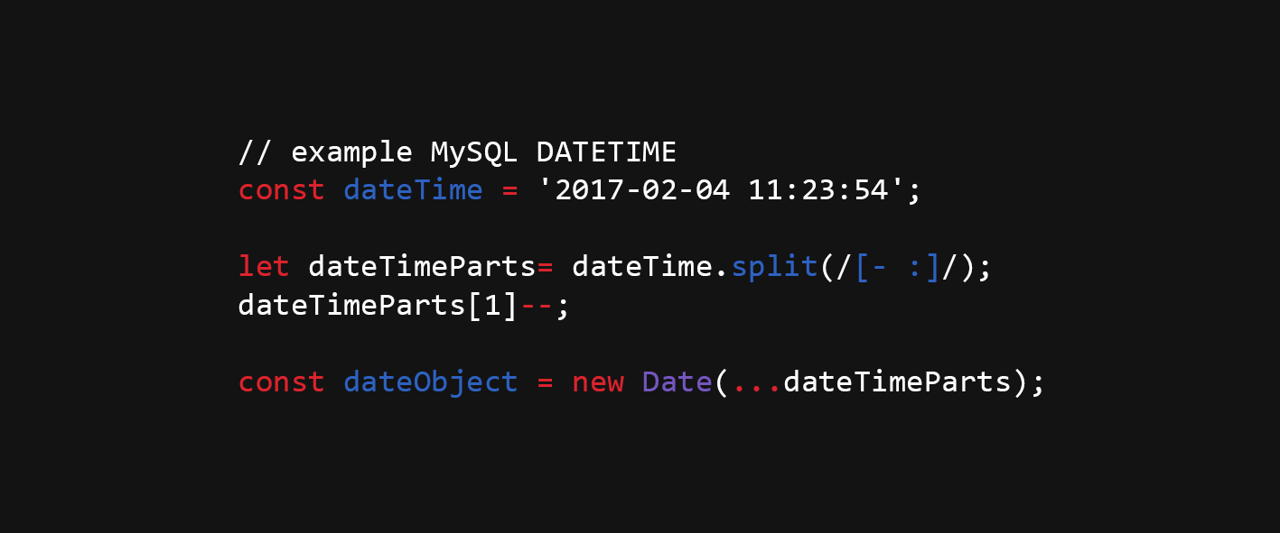 Create Date from MySQL DATETIME format in JavaScript