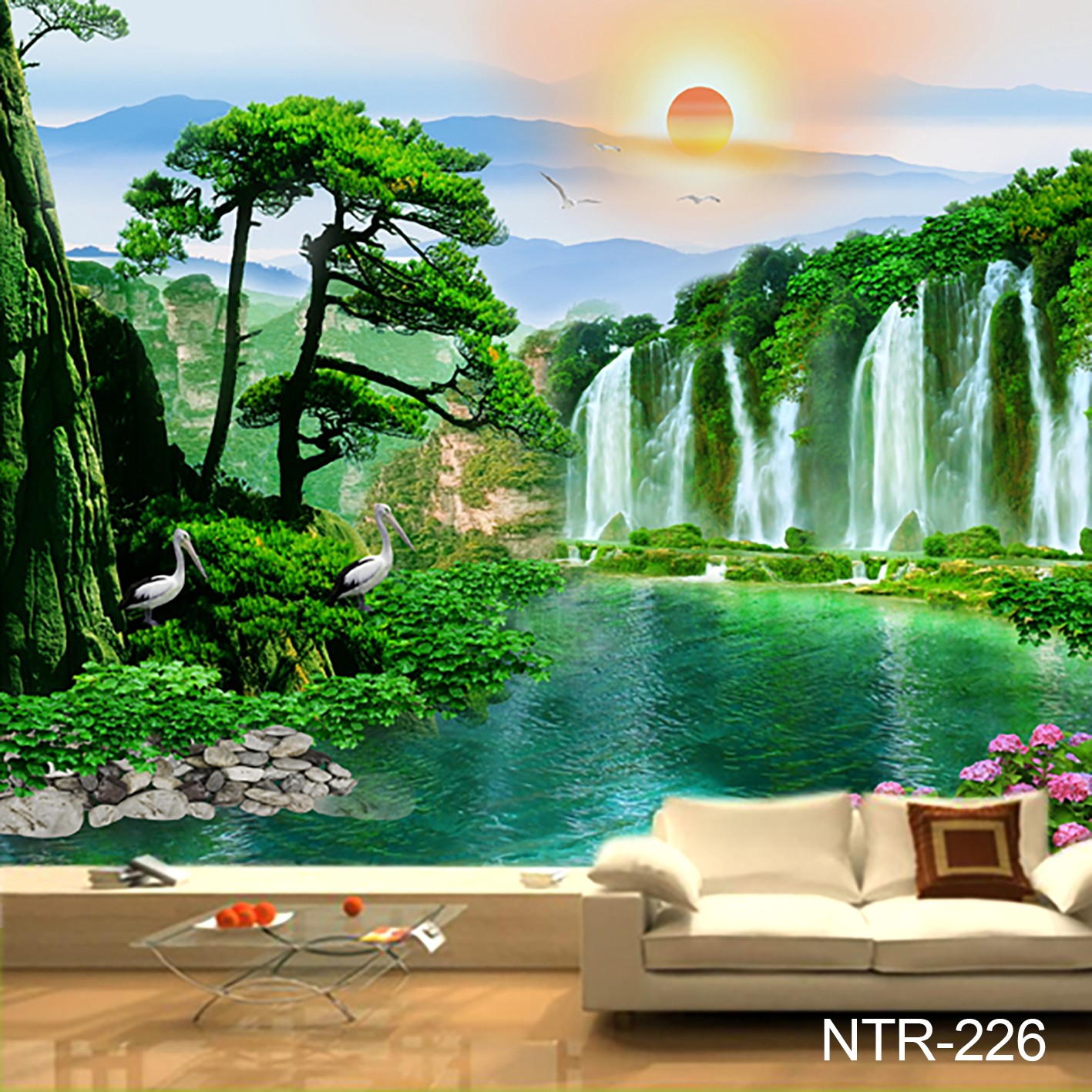 WALLPAPER DINDING CUSTOM 3D Wallpaper Jakarta Medium