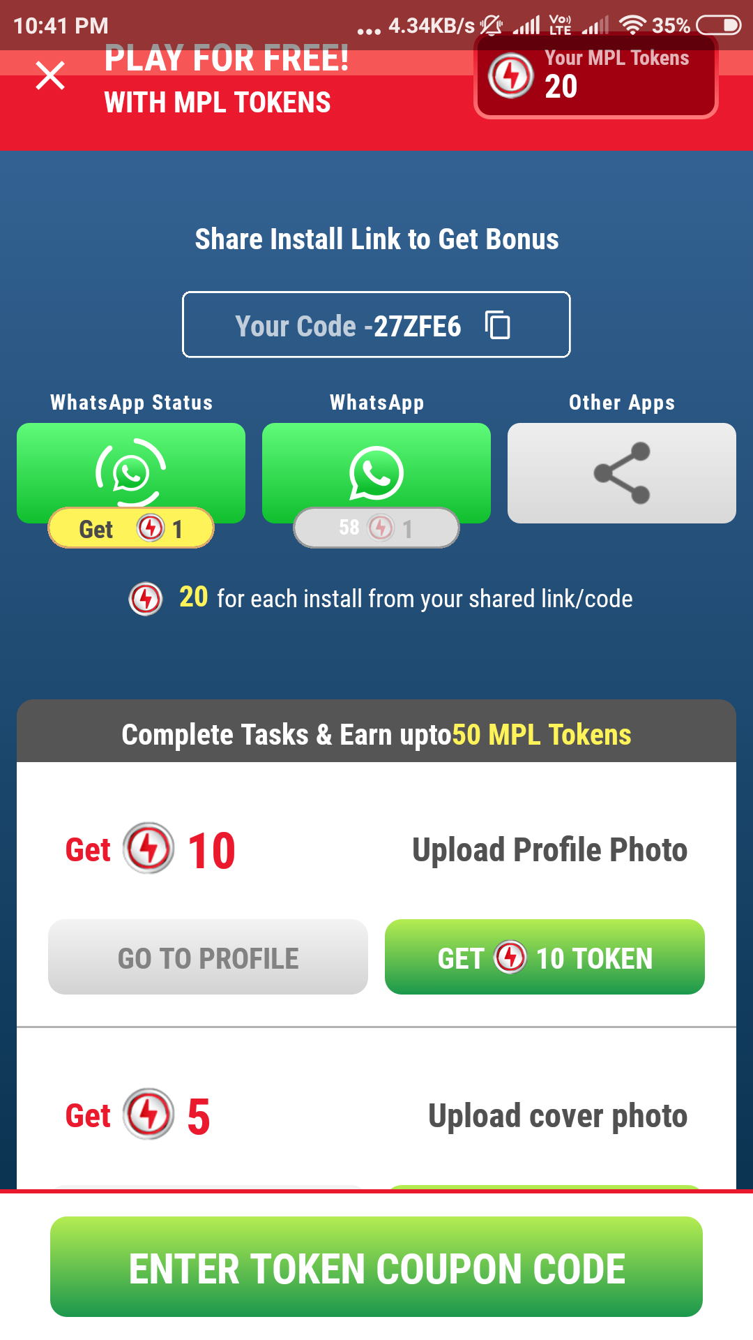 How to Earn Money via Referral to friends and play Cash
