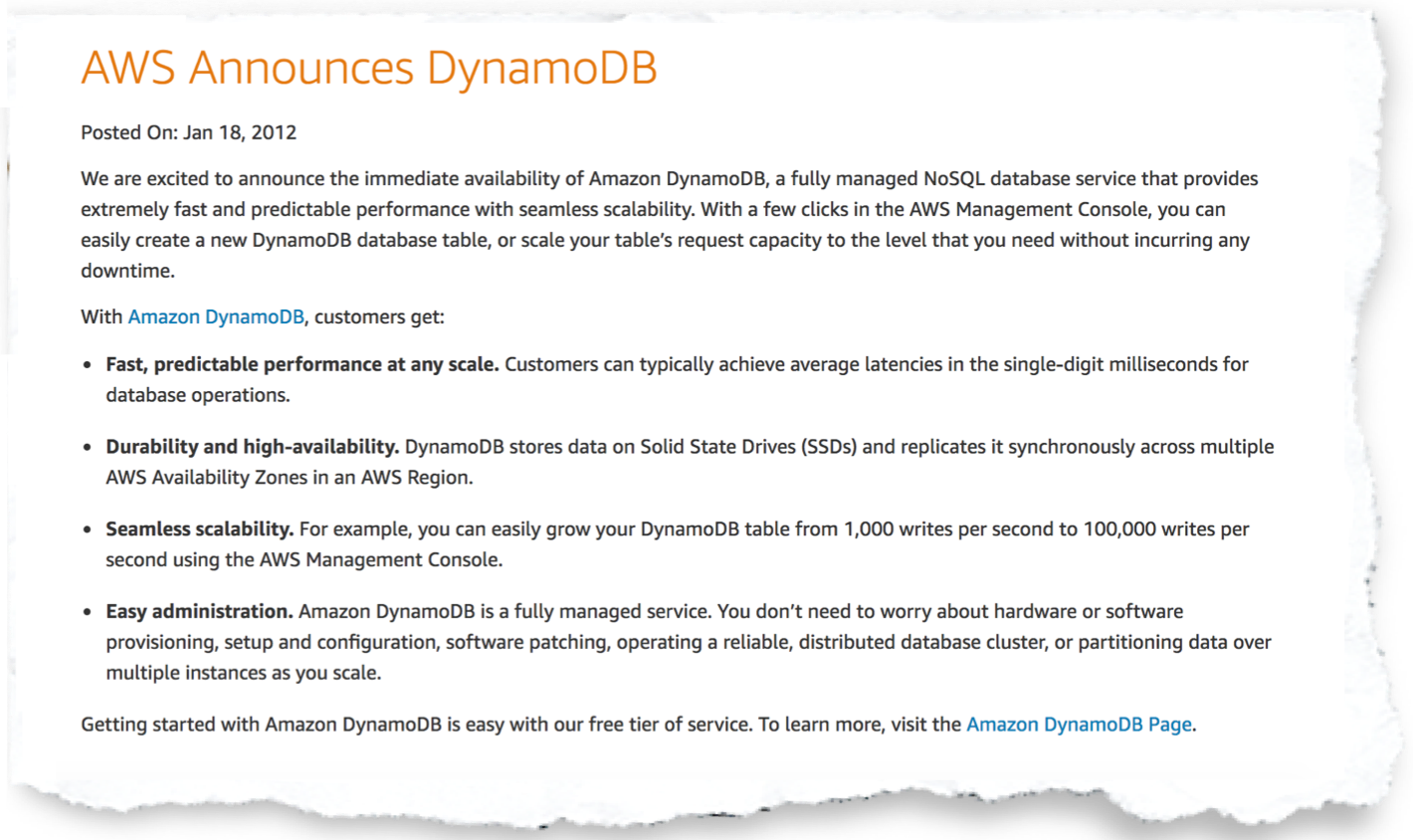 Why Amazon DynamoDB isn't for everyone - A Cloud Guru