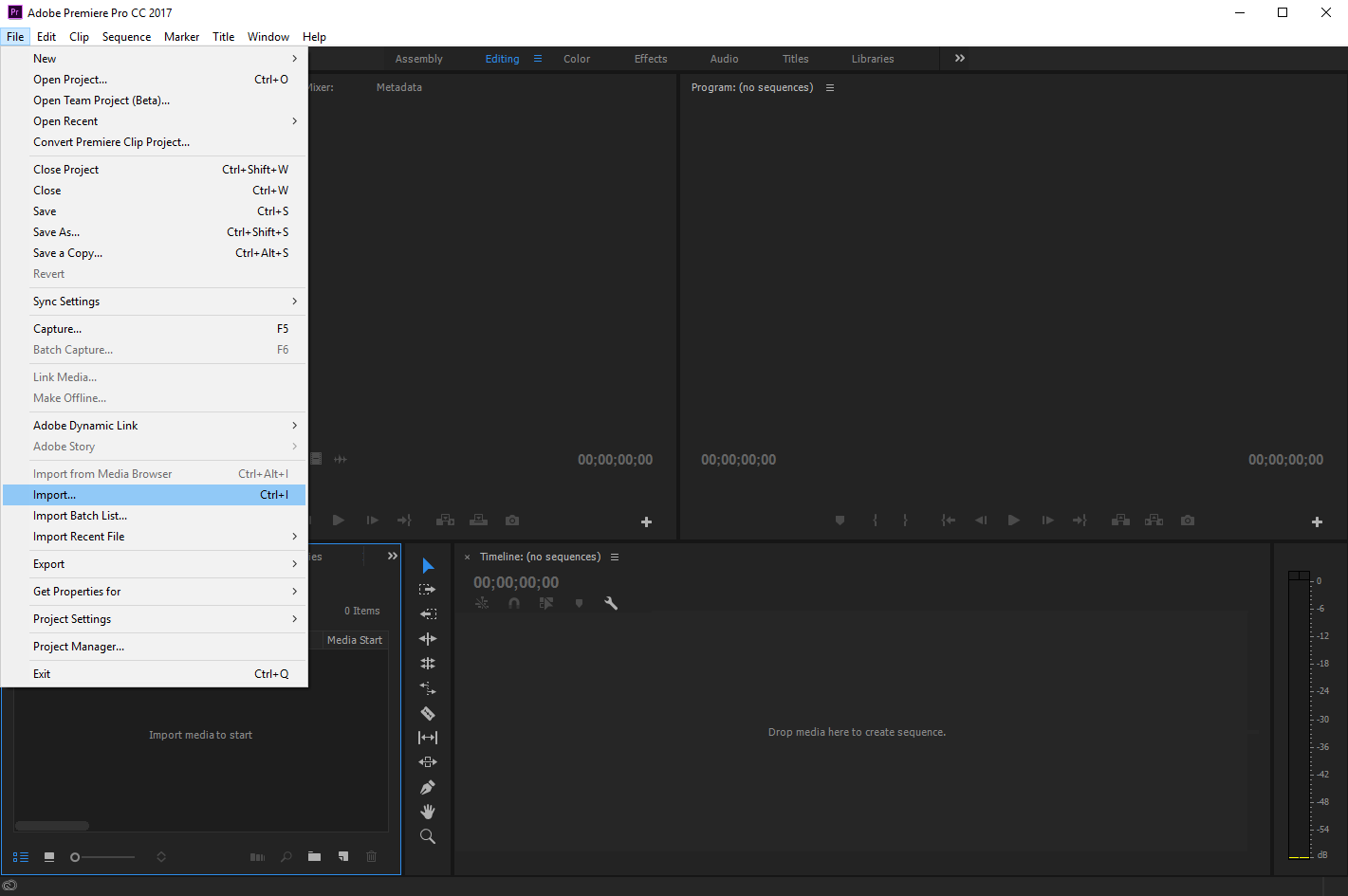 Adobe Premiere Pro: export from Simon Says and import