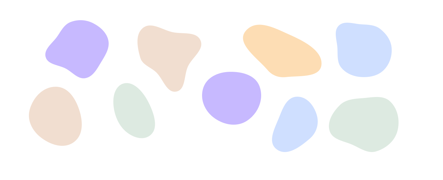 Organic blob shapes to be used to create depth and texture on the page