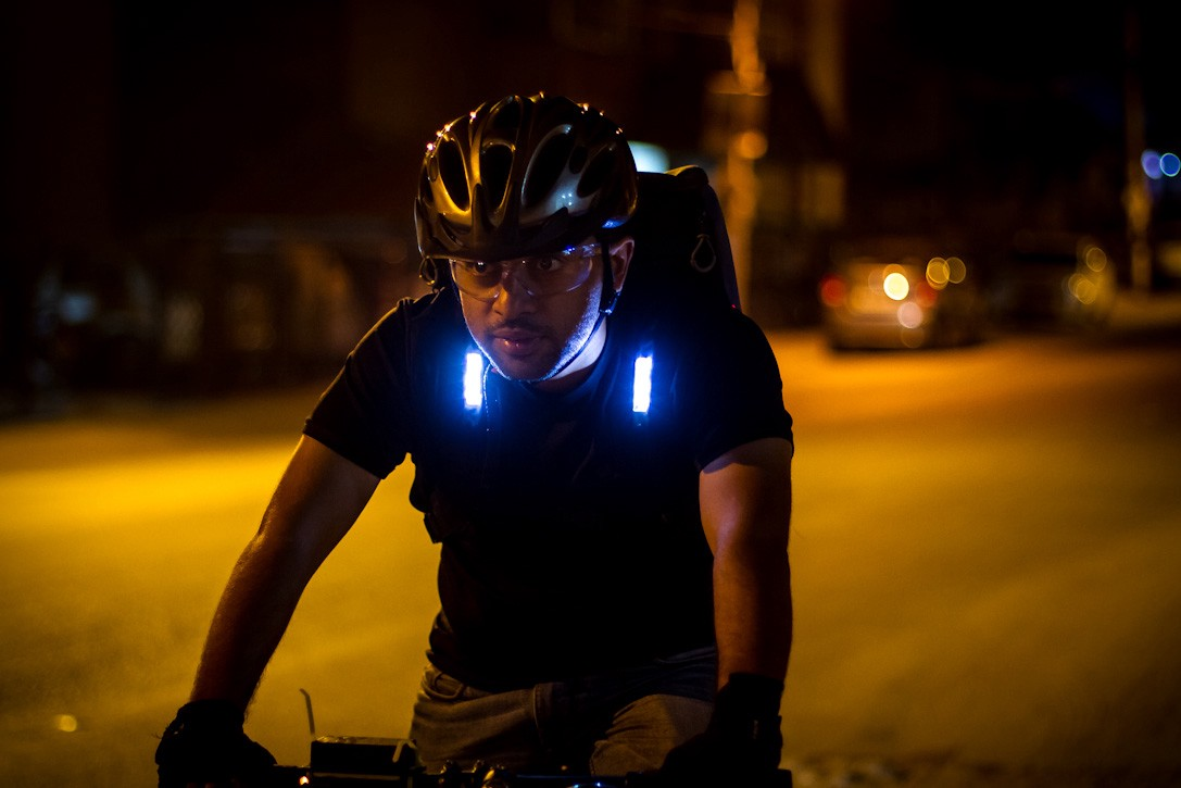c41b0febc Aster Backpack Aims to Improve Cycling Safety At Night