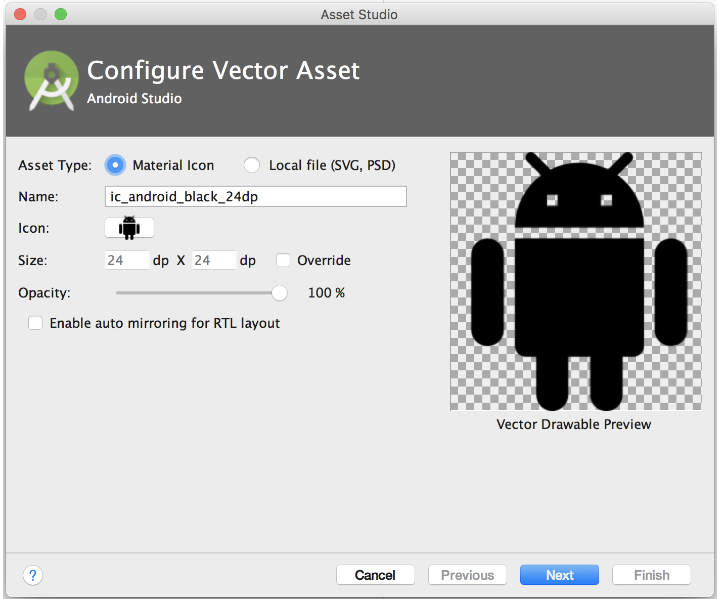 Converting SVG, PSD to XML(Vector Drawable) using Android