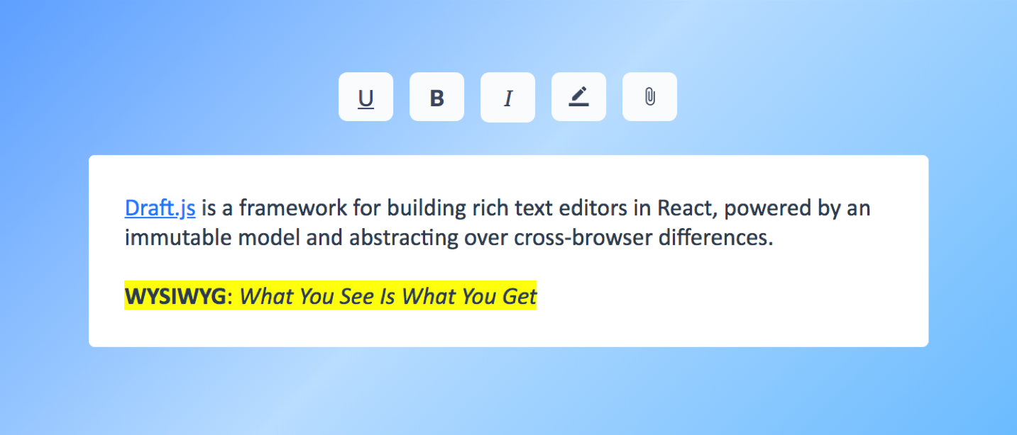 Building a Rich Text Editor with React and Draft js, Pt  1