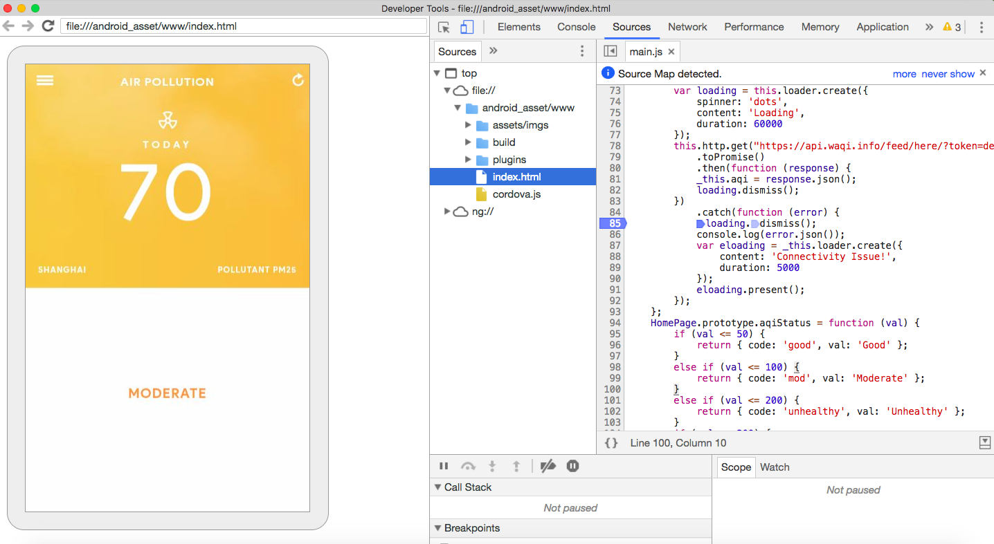 Part 2: Simple Ionic tutorial from scratch — From 0 to Live App