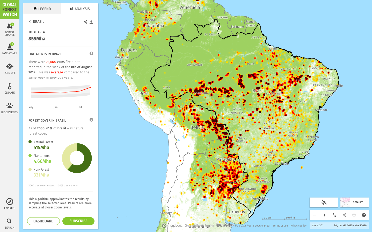 The Amazon is on fire. Is it worse than normal? - Vizzuality ...