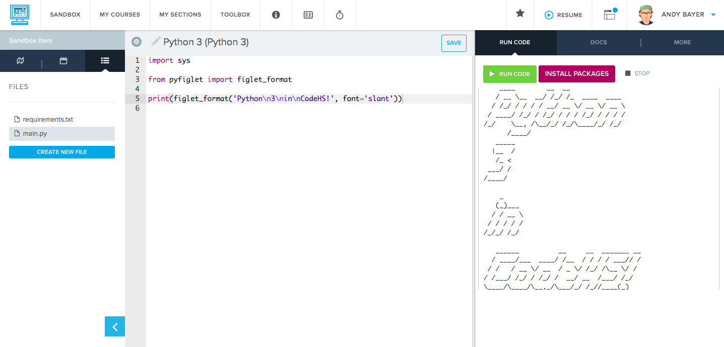 Python 3 — Now Available in the CodeHS Sandbox - Read Write Code