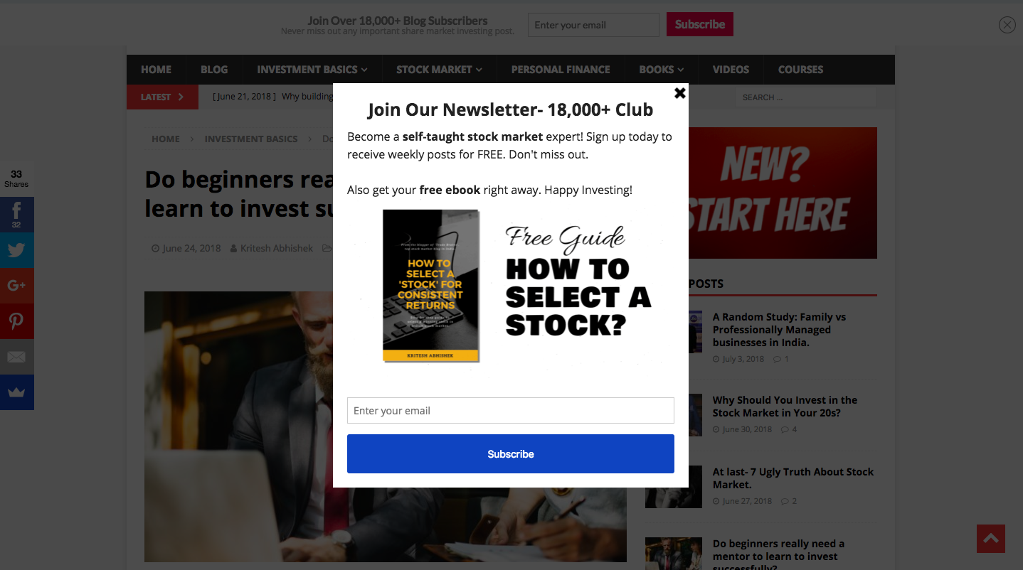 How I Build an Email List of 18,000+ Subscribers Within 13 5