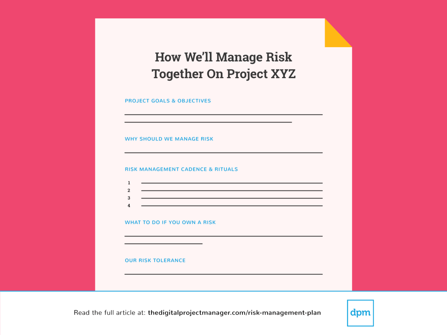 What Is How To Create A Risk Management Plan By Emily Luijbregts The Digital Project Manager Medium