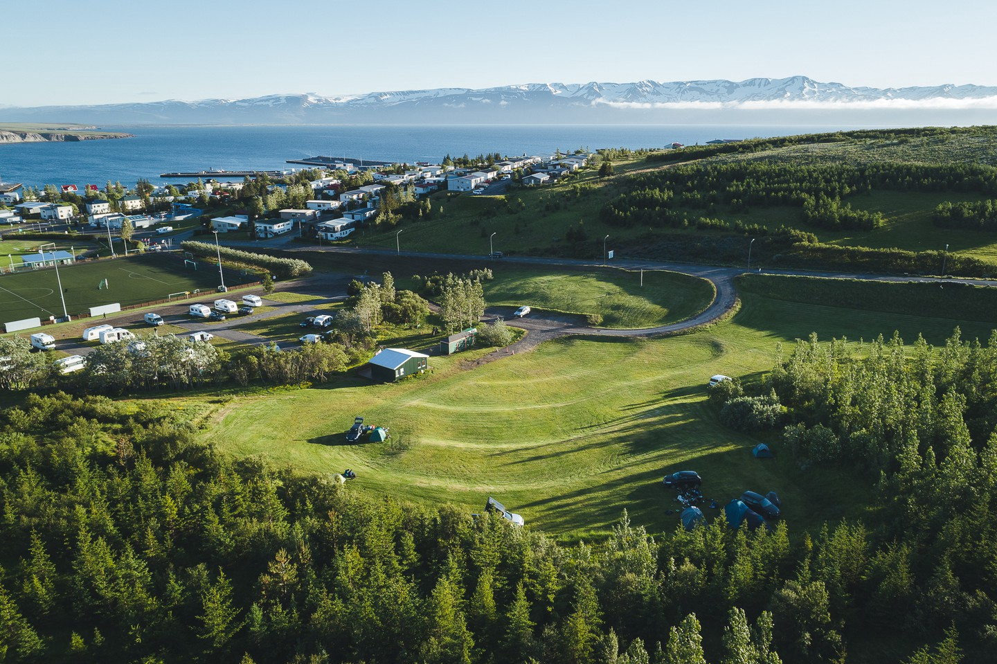A campsite five minutes from the harbour is ideal if you're wanting to experience the Icelandic great outdoors | © Ales Mucha
