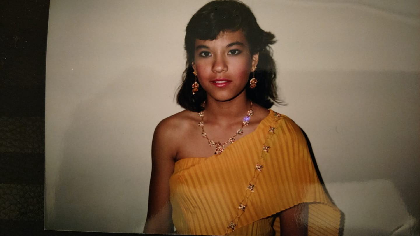 Early teen mixed race girl. My oldest daughter.