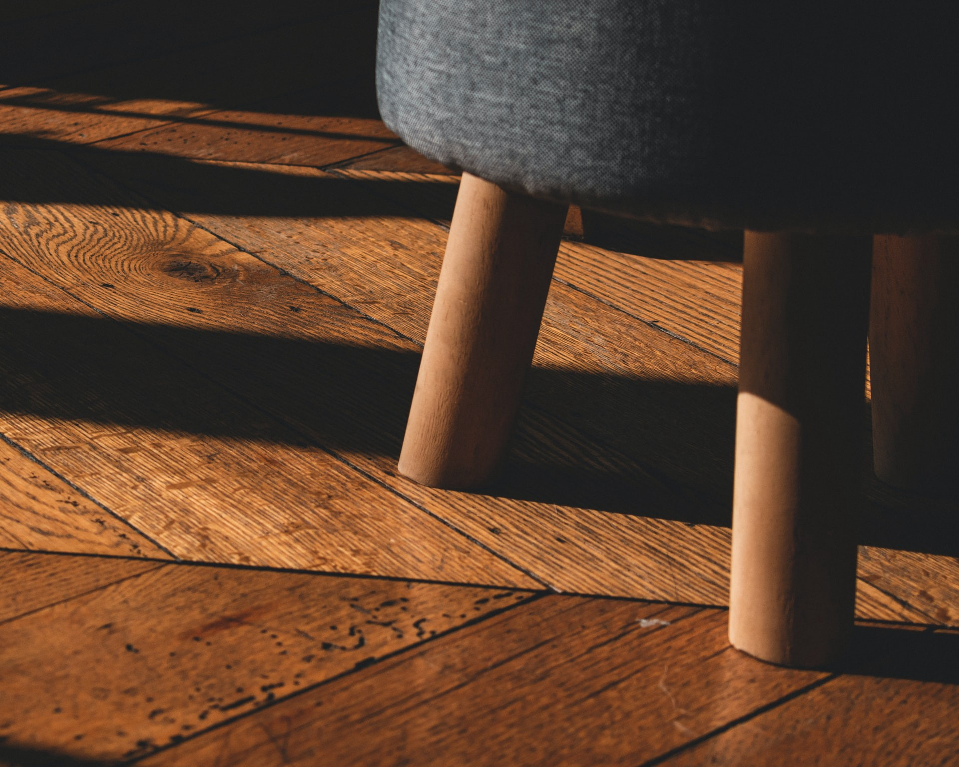 Chair on wooden flooring