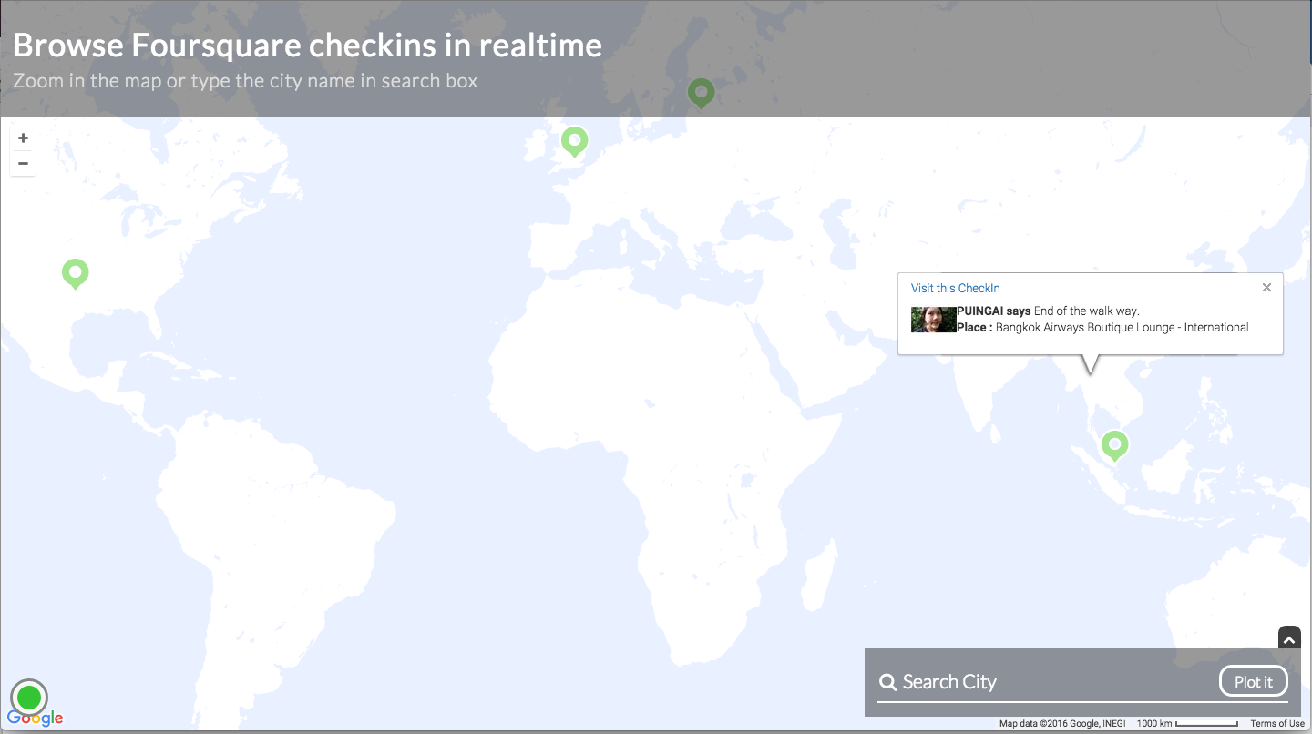 Now A Realtime Checkins Experience With Google Maps And Appbase