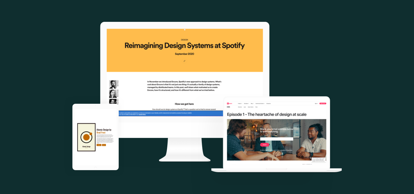 Design resources from Spotify, Brad Frost and Invision.