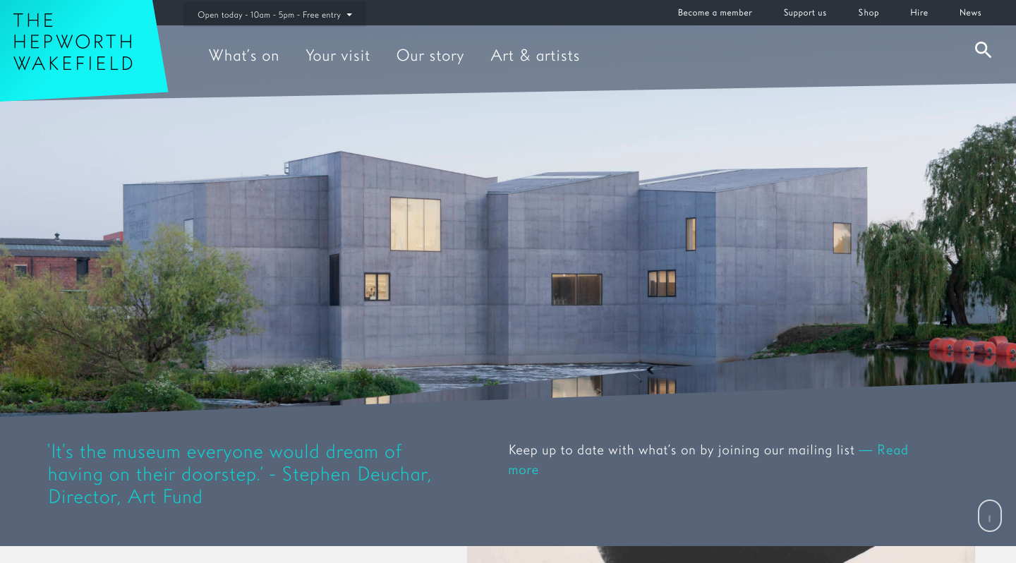The Hepworth Wakefield homepage