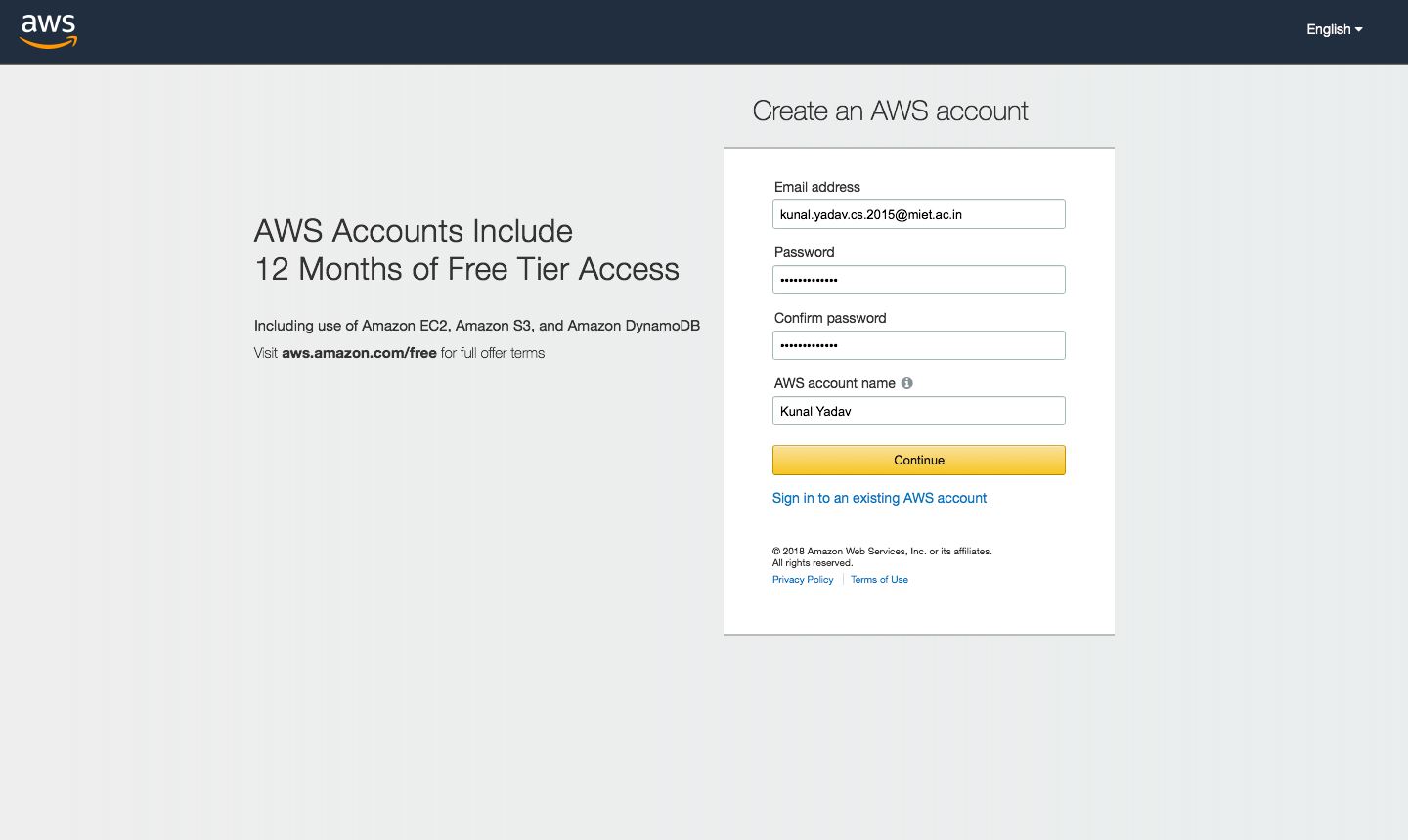 How To Create An Aws Account Hello Everyone I Hope You Enjoyed My By Kunal Yadav Level Up Coding