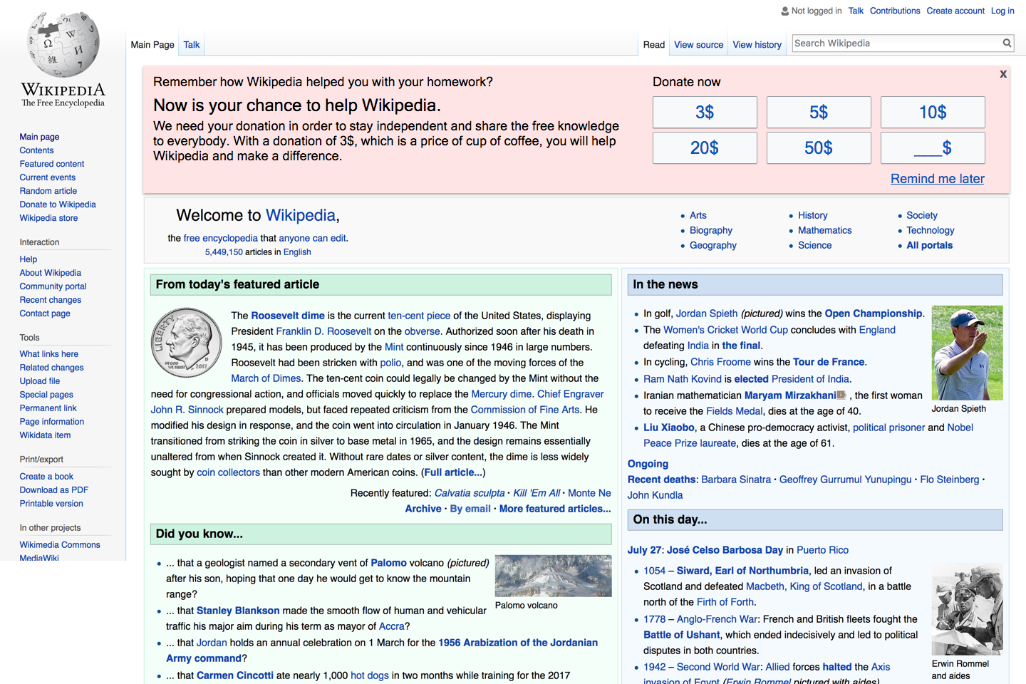 What's up with Wikipedia's donation message? - Omri Lachman