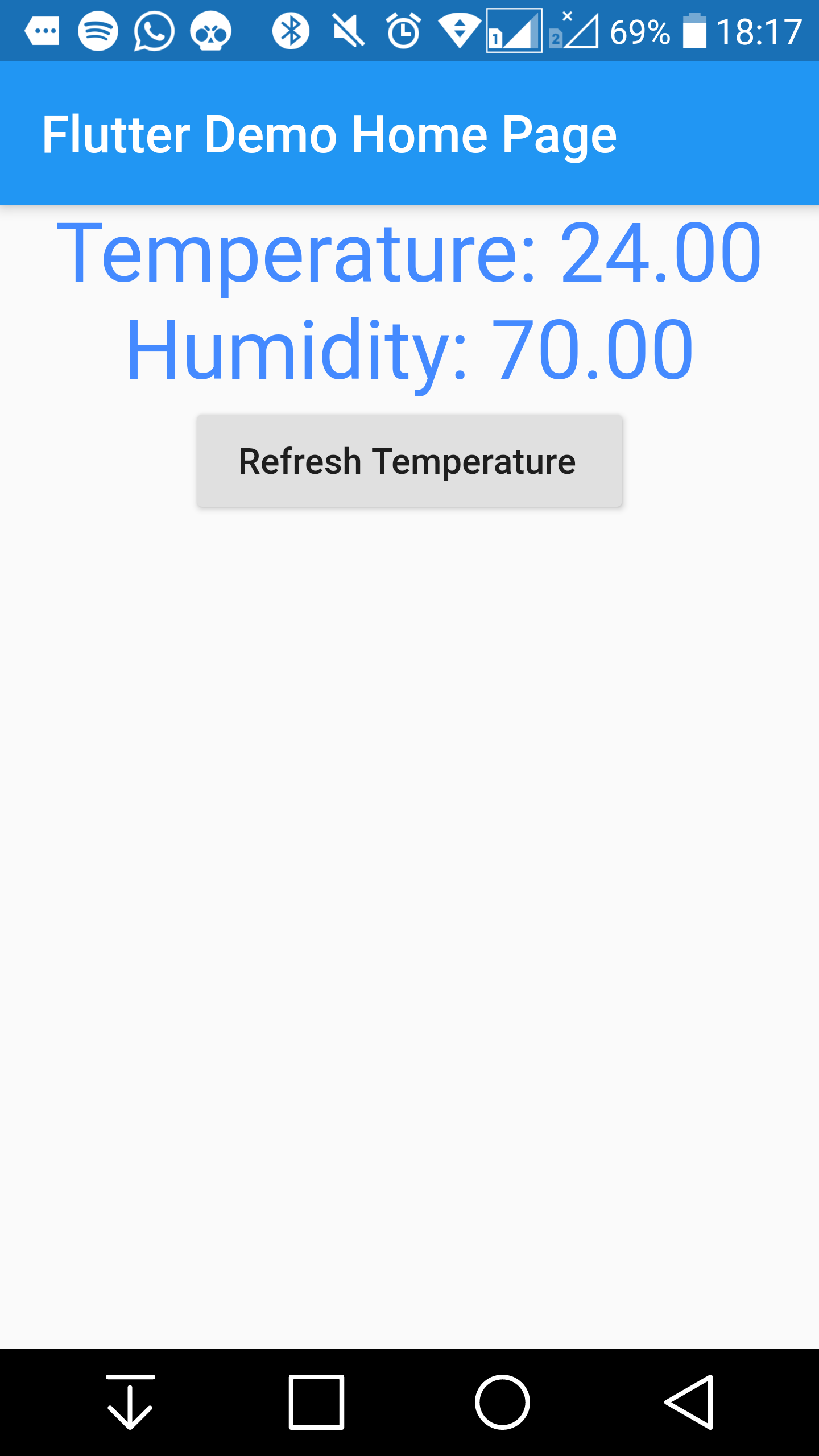 Using temperature sensor DHT11 to send information to Azure