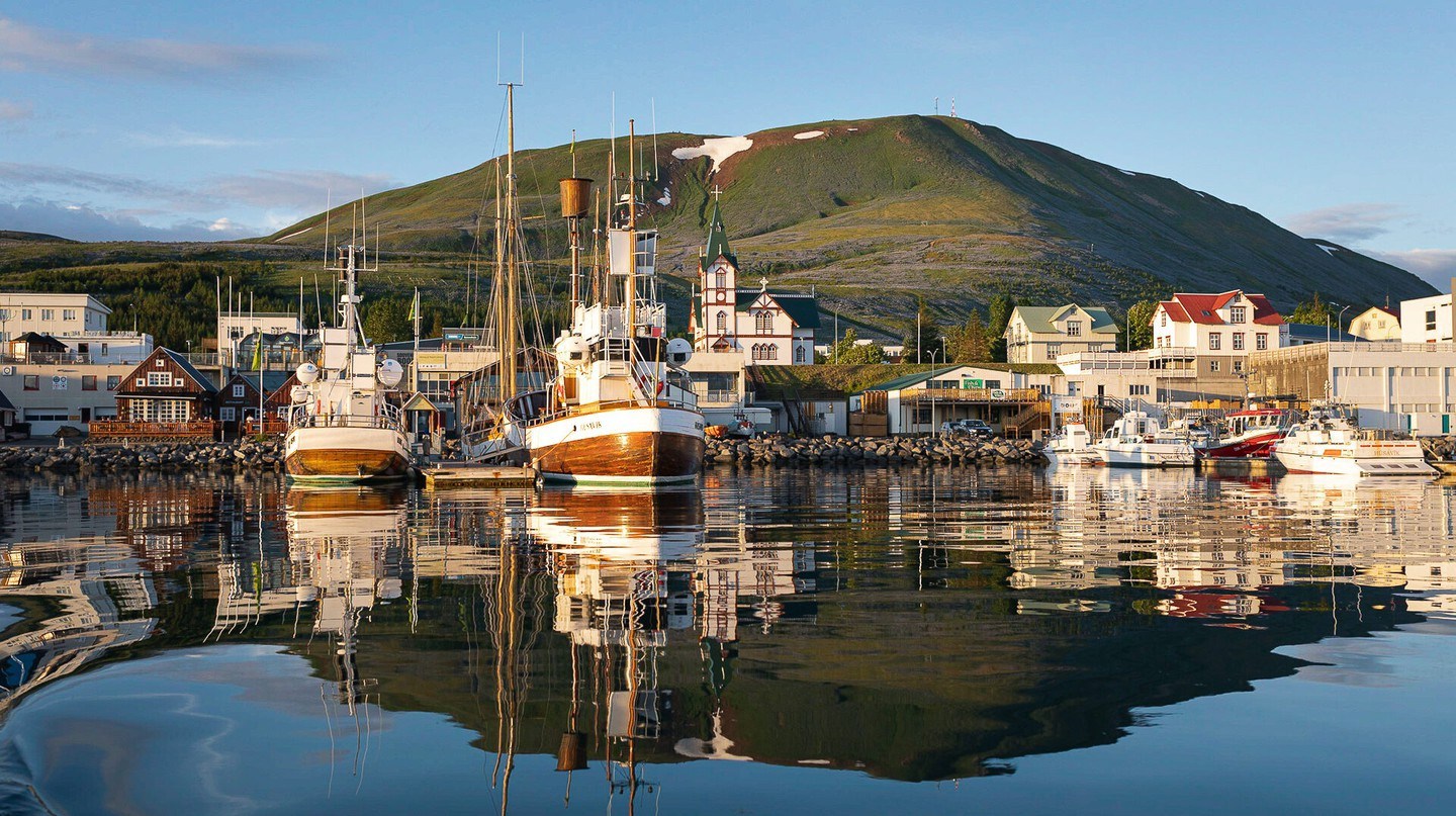 Húsavík harbour, where humpback whales can be spotted in season | © Ales Mucha
