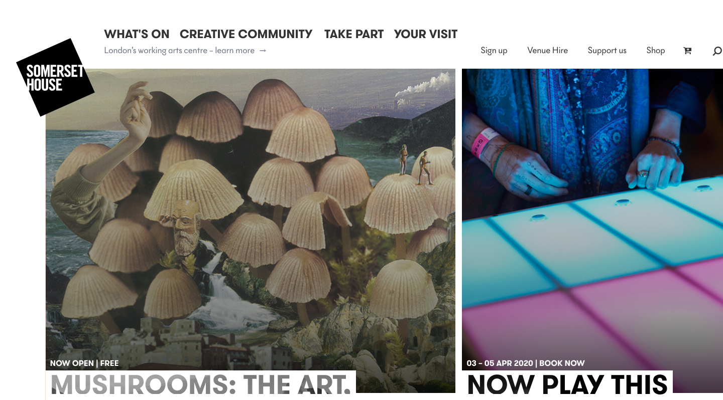 Somerset House homepage