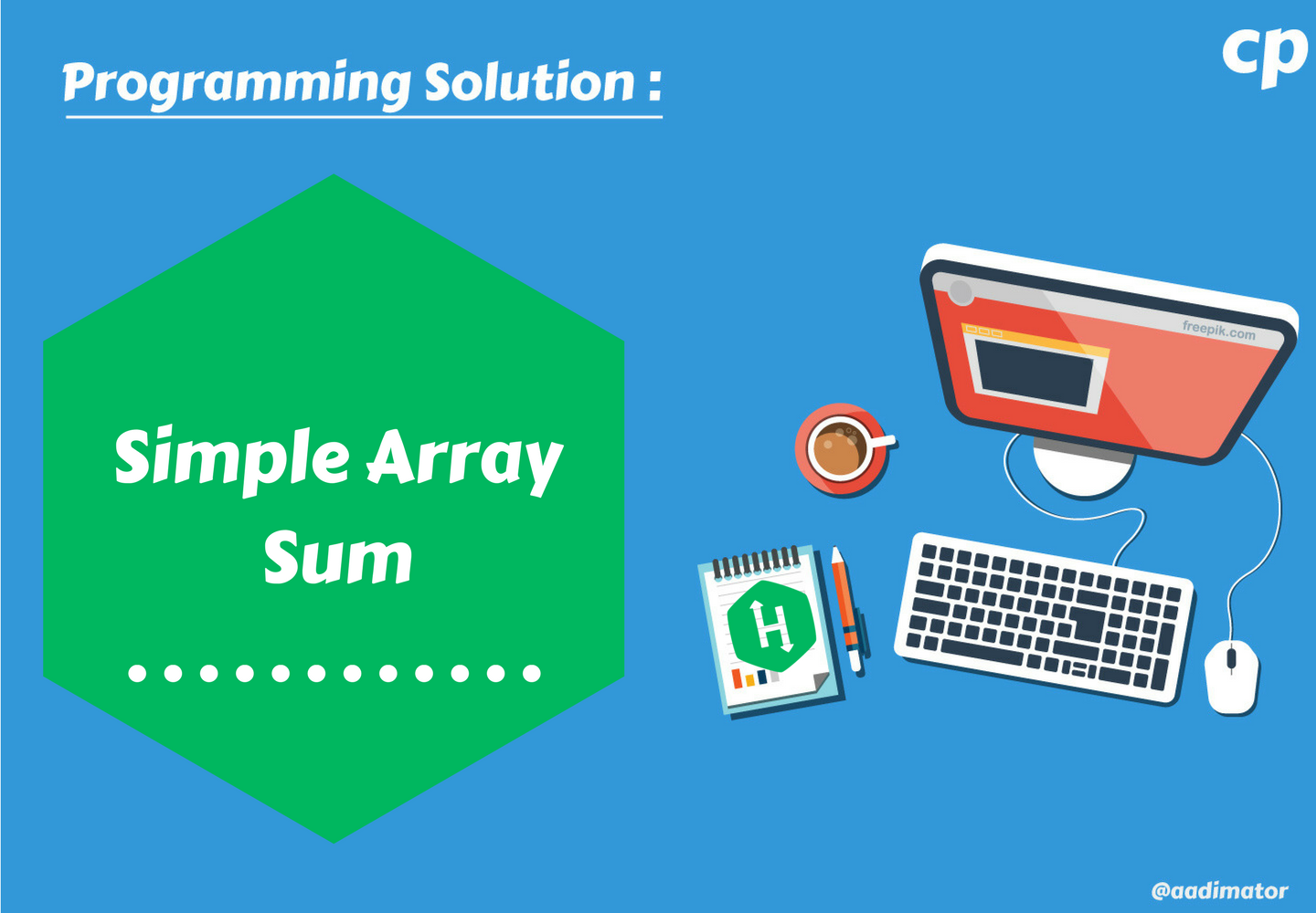 Simple Array Sum — Hackerrank - Competitive Programming - Medium