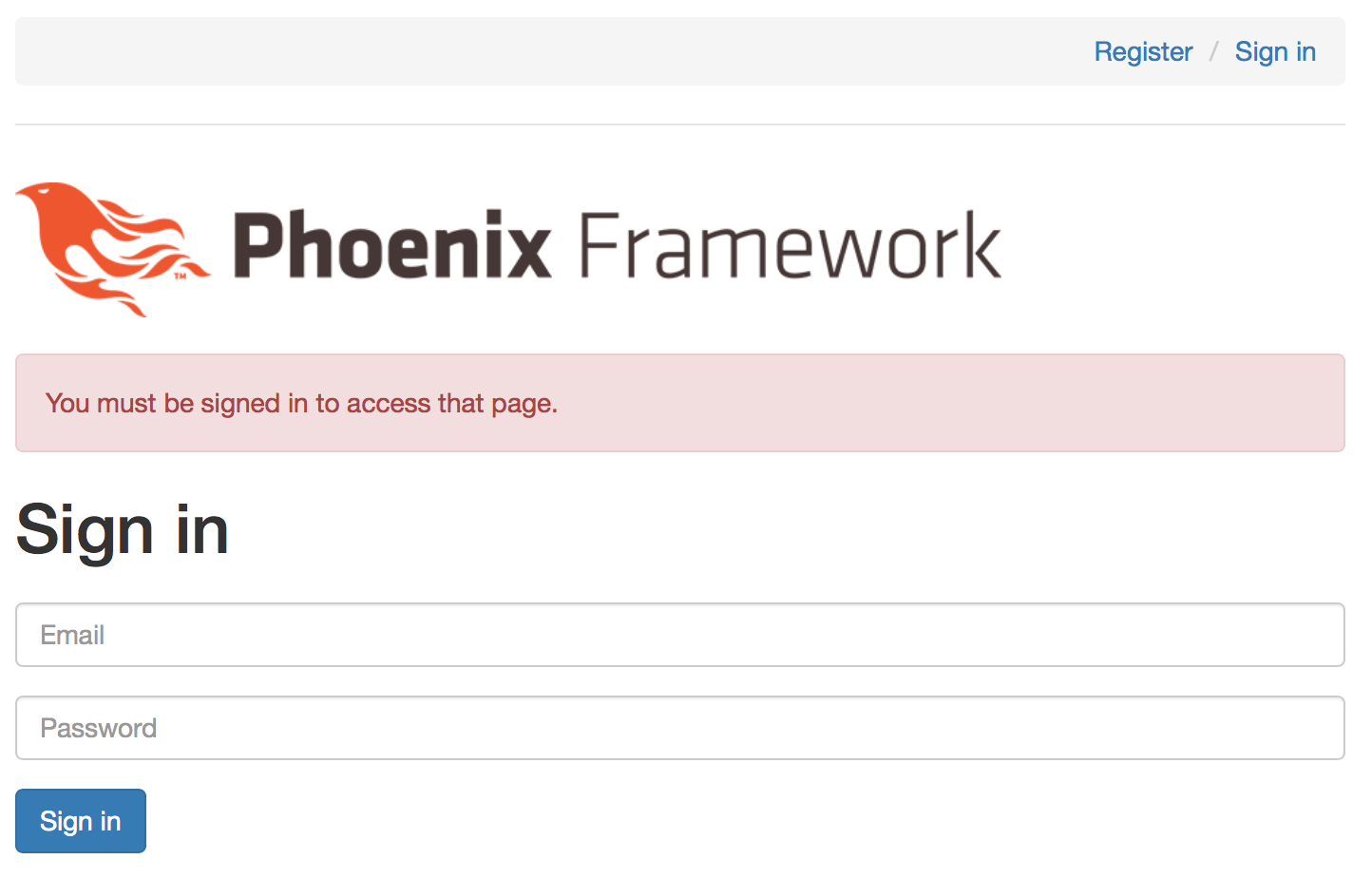 Phoenix: simple authentication & authorization in step-by