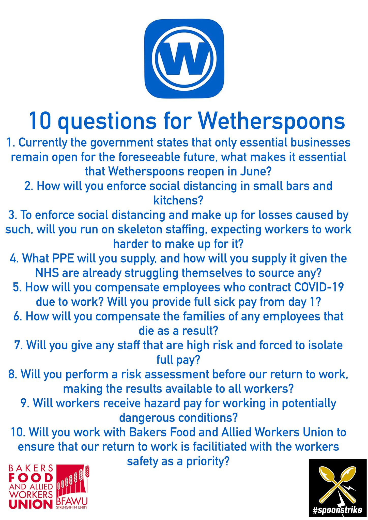 10 Questions for Wetherspoons