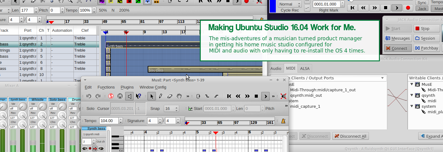 Making Ubuntu Studio 16 04 Work for Me - Dean On Delivery