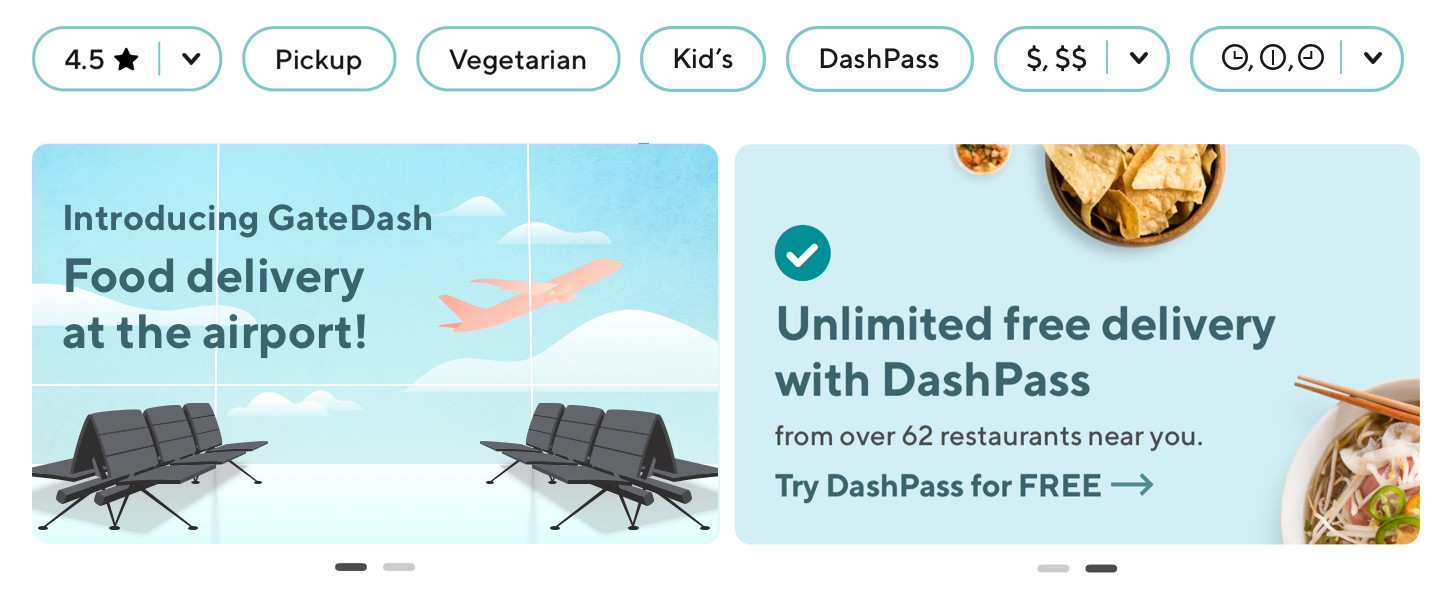 My DoorDash Redesign: Introducing GateDash, food delivery at