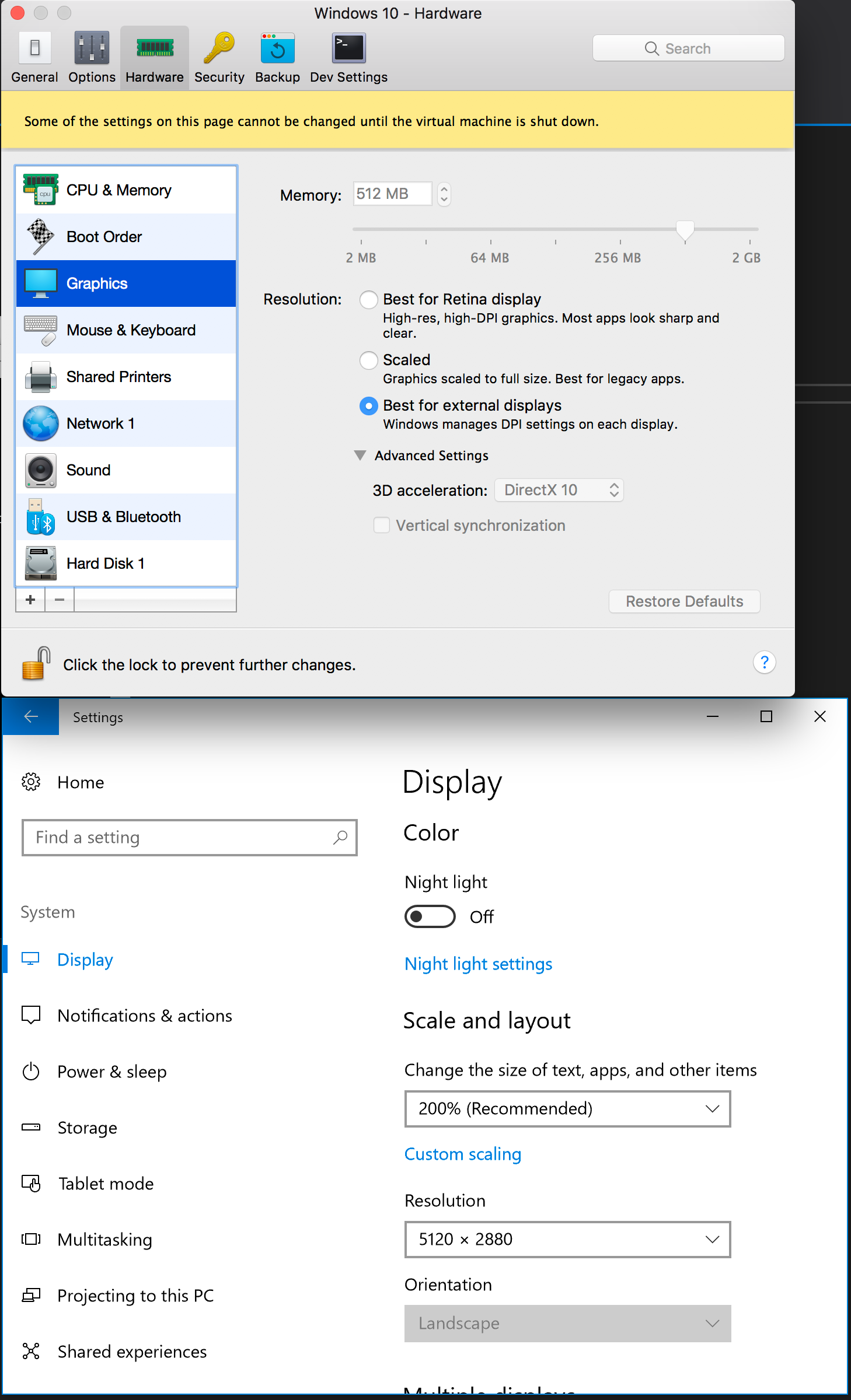 Best Display Settings for Windows 10 in Mac Parallels
