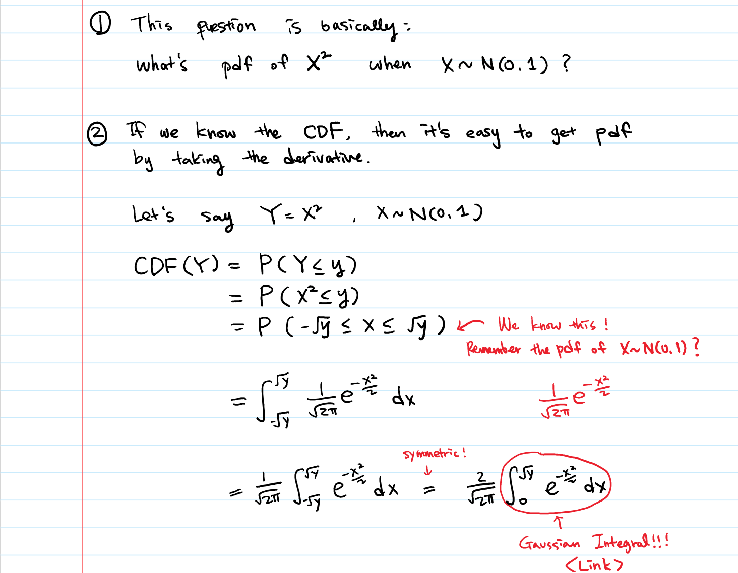 10 Squared let's derive chi-squared pdf from normal distribution