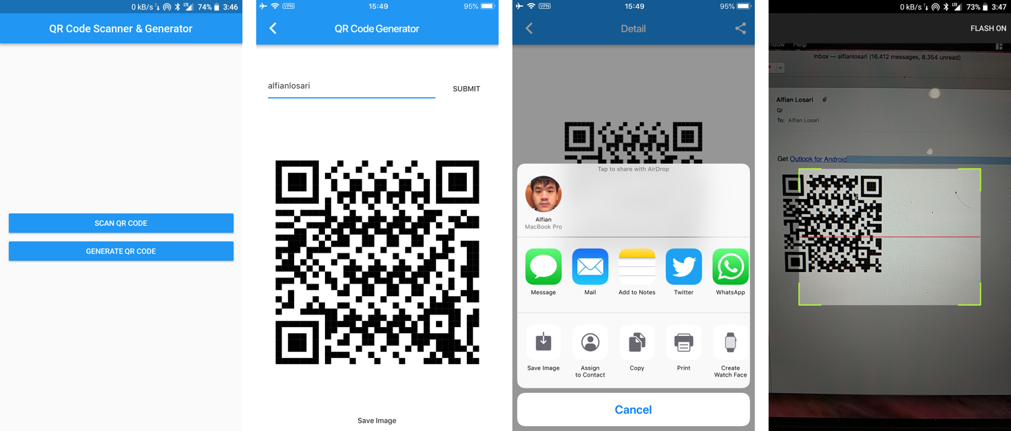 Building Flutter QR Code Generator, Scanner, and Sharing App