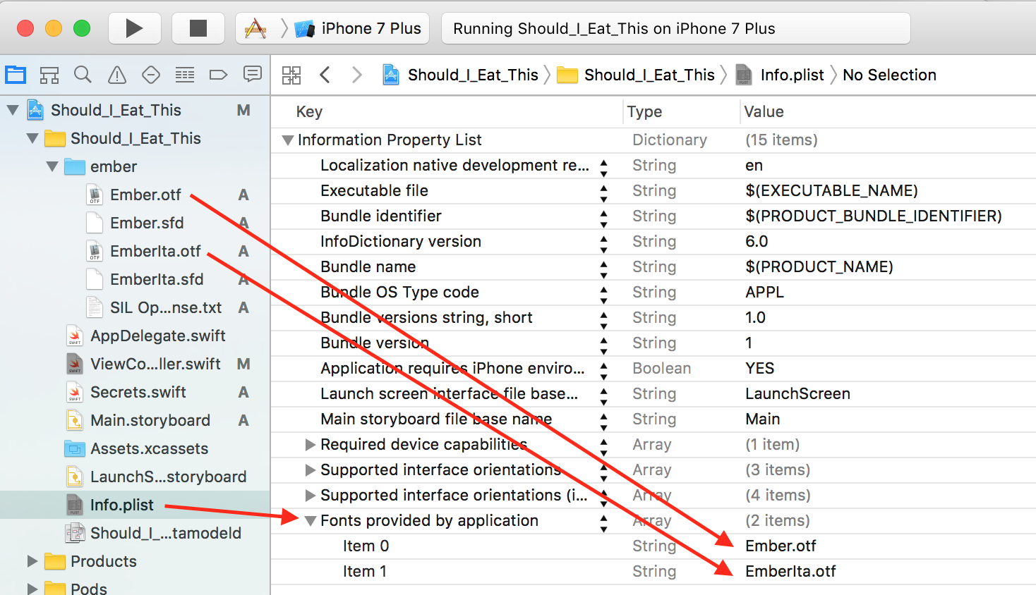 How to Import Fonts into Xcode (Swift 3) - Yay It's Erica
