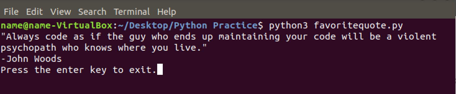 Ch 1 — Intro to Python: Writing Your First Program - Code