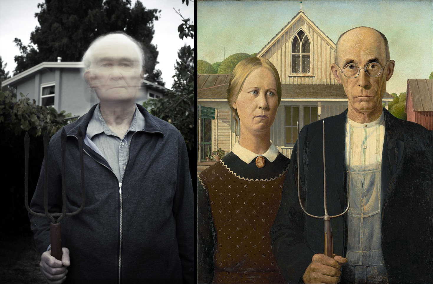 With Grant Wood's 'American Gothic'