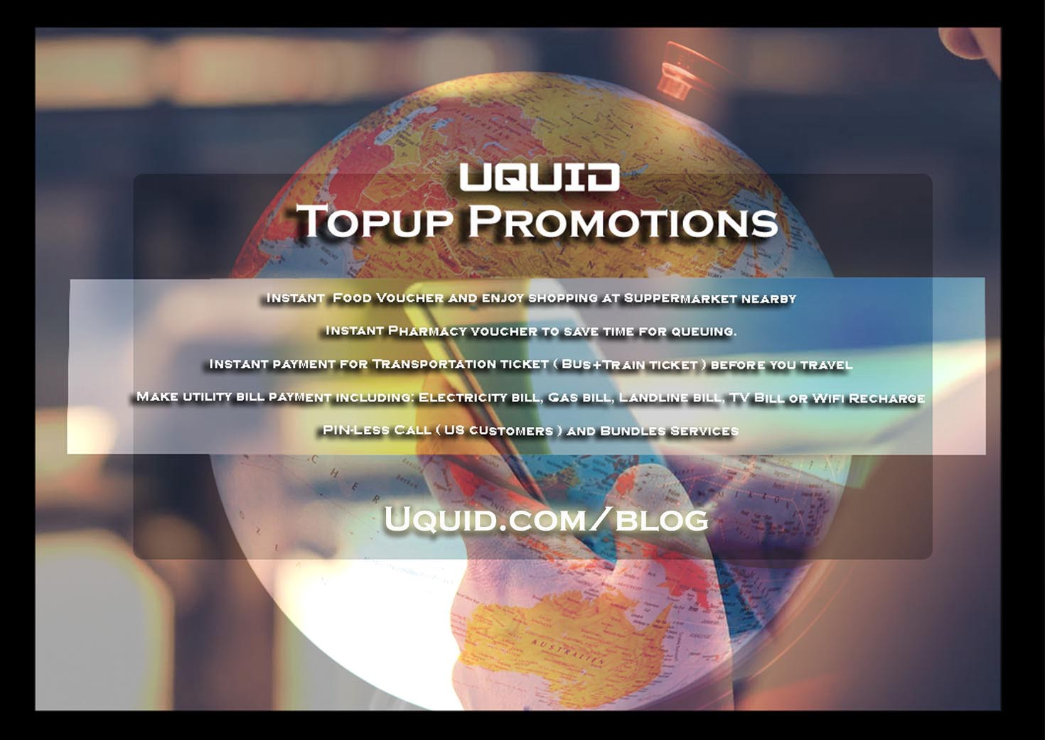 Latest topup promotions from your uquid account: Claro