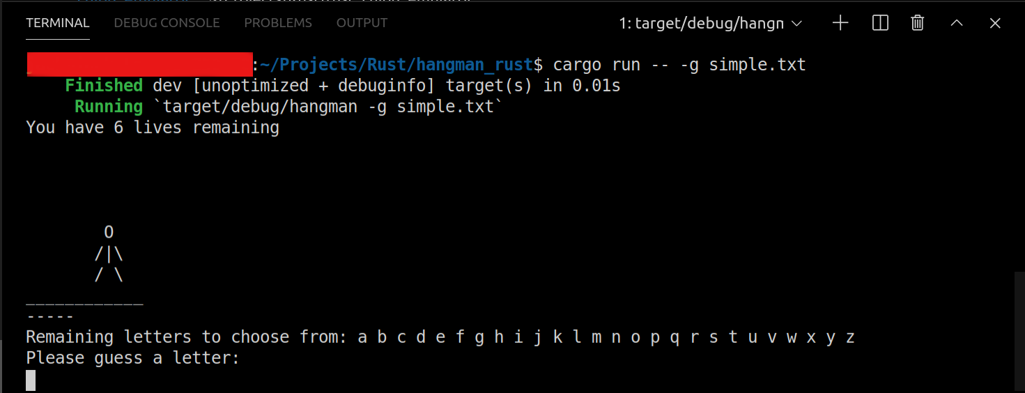 Running the game in the command line