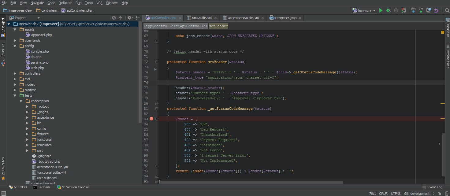 How to debug a Yii2 project with XDebug and PHPStorm IDE