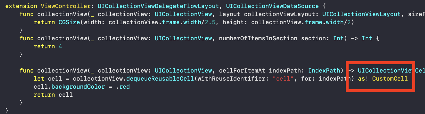 Programmatic Custom CollectionView Cell Subclass in Swift 5