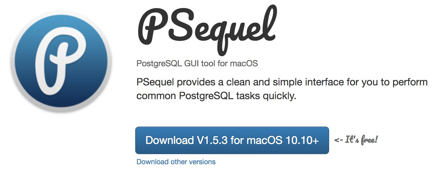 Setting up databases with PostgreSQL, PSequel, and Python